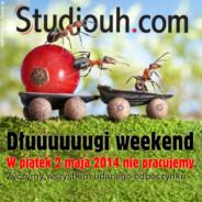 Czas pracy w dłuugi weekend majowy 2014