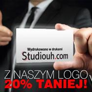 Z naszym logo 20% taniej
