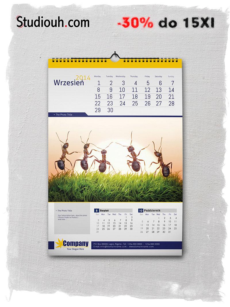 Kalendarze 2014 taniej w Studiouh.com