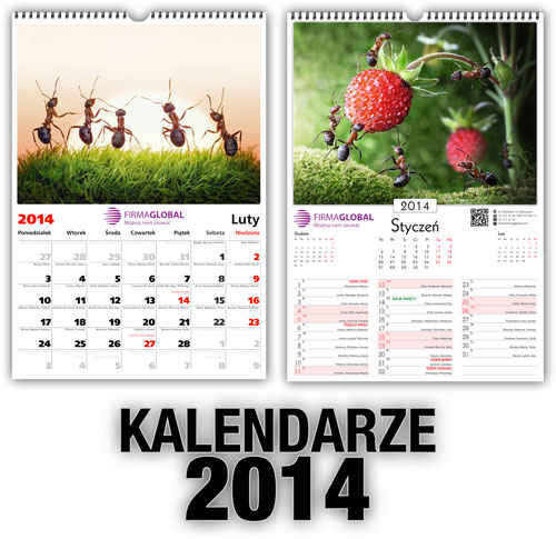 Kalendarze wiszące 2014