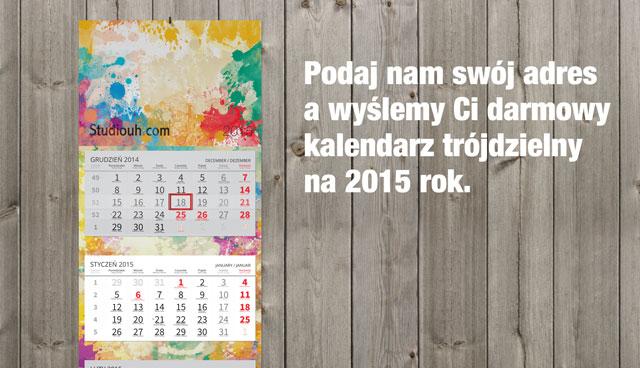 Darmowe kalendarze na 2015 rok od Studiouh