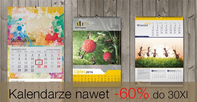 Kalendarze 2016 nawet 60% taniej w Studiouh.com