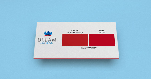 DREAM COLOR czerwony w Studiouh.com