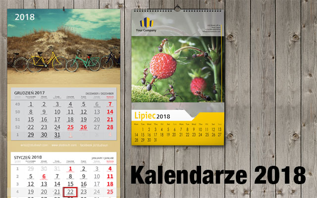 Kalendarze 2018 w Studiouh.com